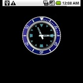 Blue Rolex Clock Widget