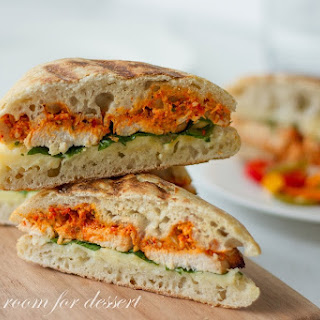 Smoky Red Pepper Pesto on Grilled Chicken Panini