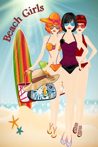 海滩女孩装扮