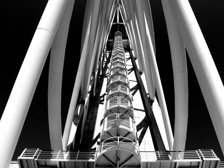 Torre Vasco da Gama by Isa Pat - Black & White Buildings & Architecture ( parque das nações, expo98, torre, portugal, lisboa,  )