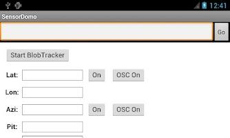 Screenshot of SensorDomo