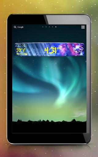 钻石时钟和天气小工具|玩天氣App免費|玩APPs