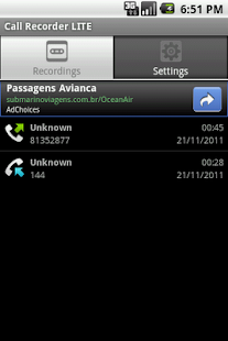 Call Recorder LITE- screenshot thumbnail