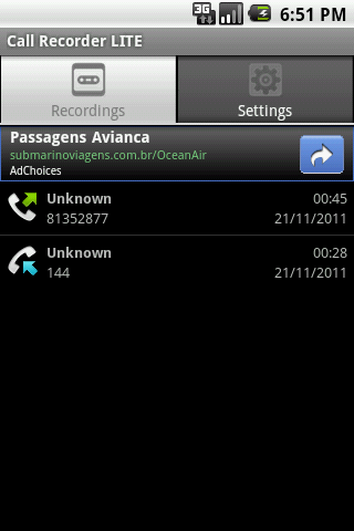 Call Recorder LITE- screenshot