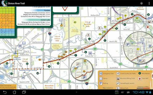Clinton River Trail Map- screenshot thumbnail