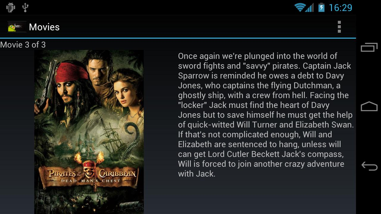 AndMote XBMC - screenshot
