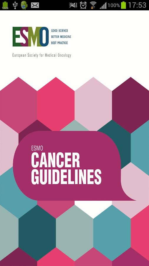ESMO Cancer Guidelines- screenshot