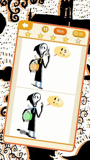 玩免費解謎APP|下載找出它們的不同:萬聖節版本,插圖作者:菲利普.德.卡米特 app不用錢|硬是要APP