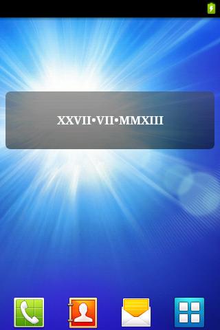 Latin Date Widget
