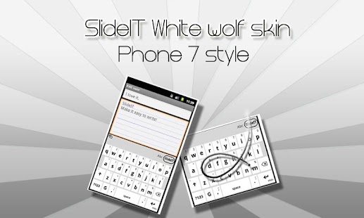 SlideIT White Wolf Skin- screenshot thumbnail