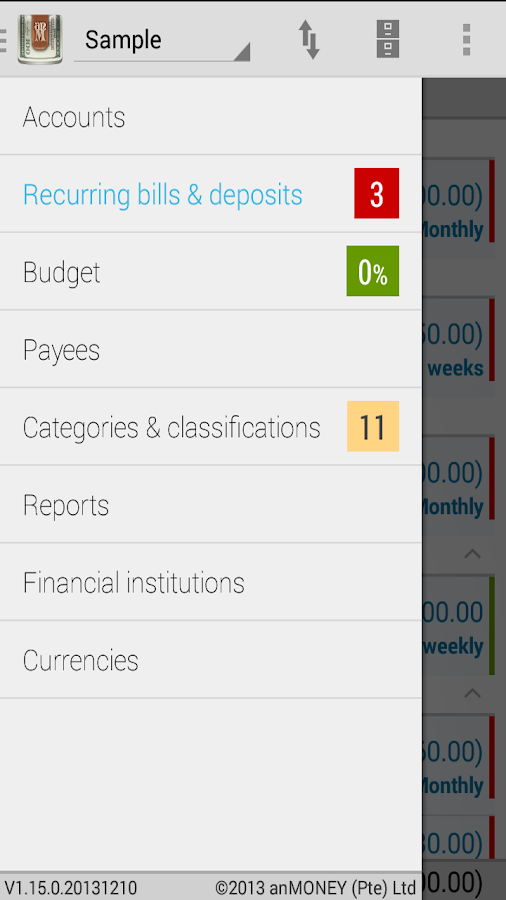 anMoney Budget & Finance - screenshot