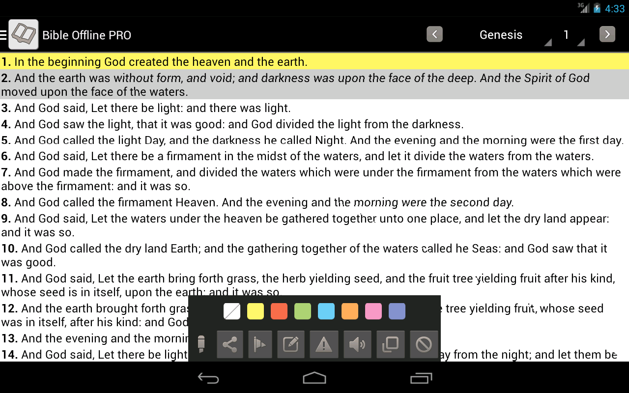 Bible Offline PRO - screenshot