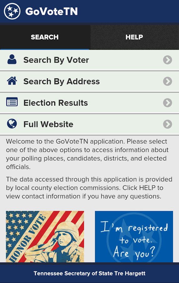 GoVoteTN- screenshot