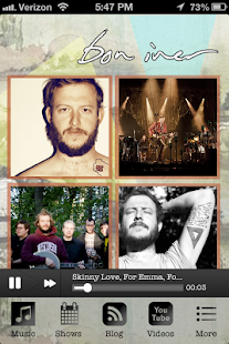 Bon Iver Fan App - screenshot thumbnail