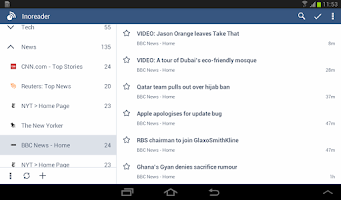 Screenshot of Inoreader - RSS & News Reader