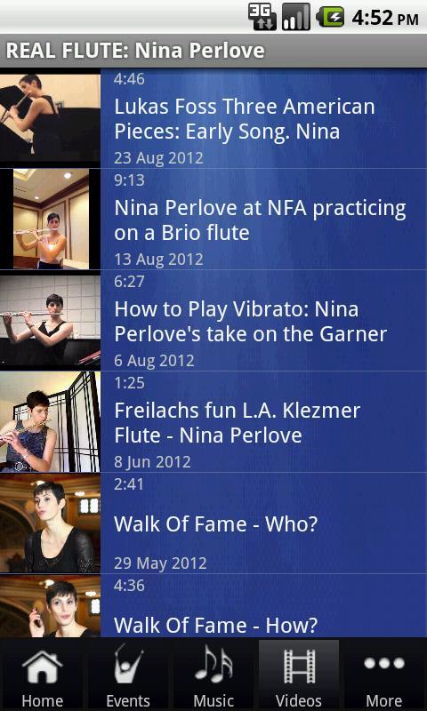 REAL FLUTE: Nina Perlove - screenshot