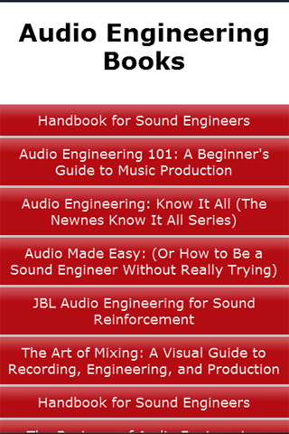 Audio Engineering Books