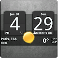 Download Sense Analog Clock Widget Dark APK for Android Kitkat