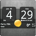 Sense Analog Clock Widget Dark for Android™