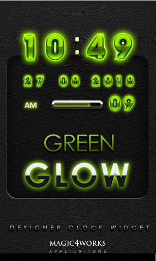 Green Glow Magic Digital Clock
