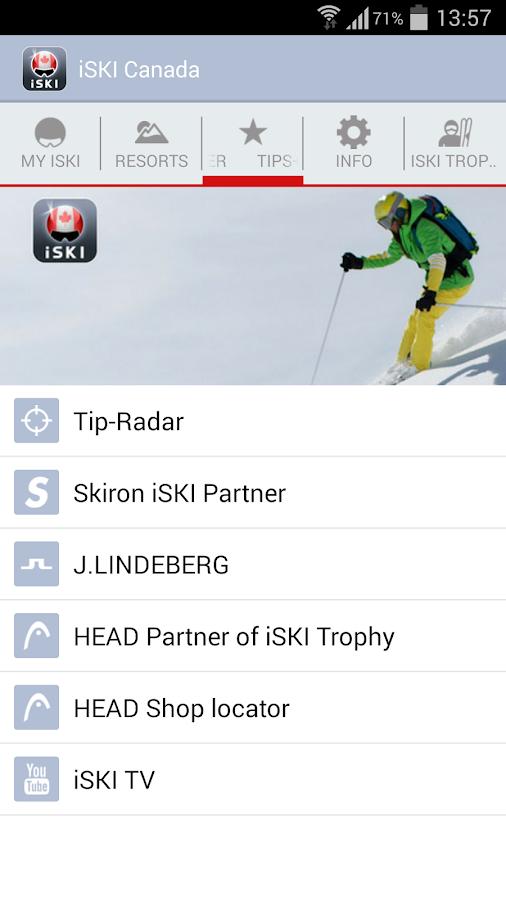 iSKI Canada- screenshot