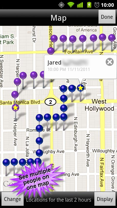 GPS Phone Tracker - screenshot