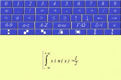 Equation writer.- screenshot