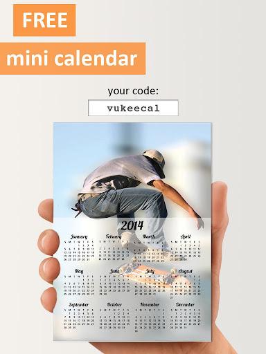 PhotoCal™ - 打印了的照片挂历