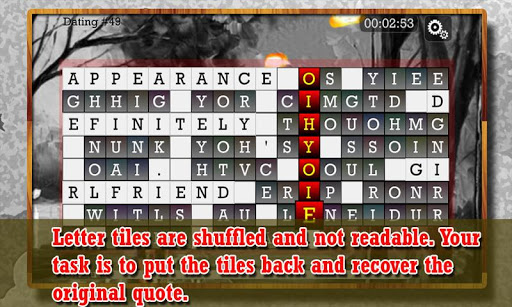 WORD PUZZLE for ROMANTIC SOUL