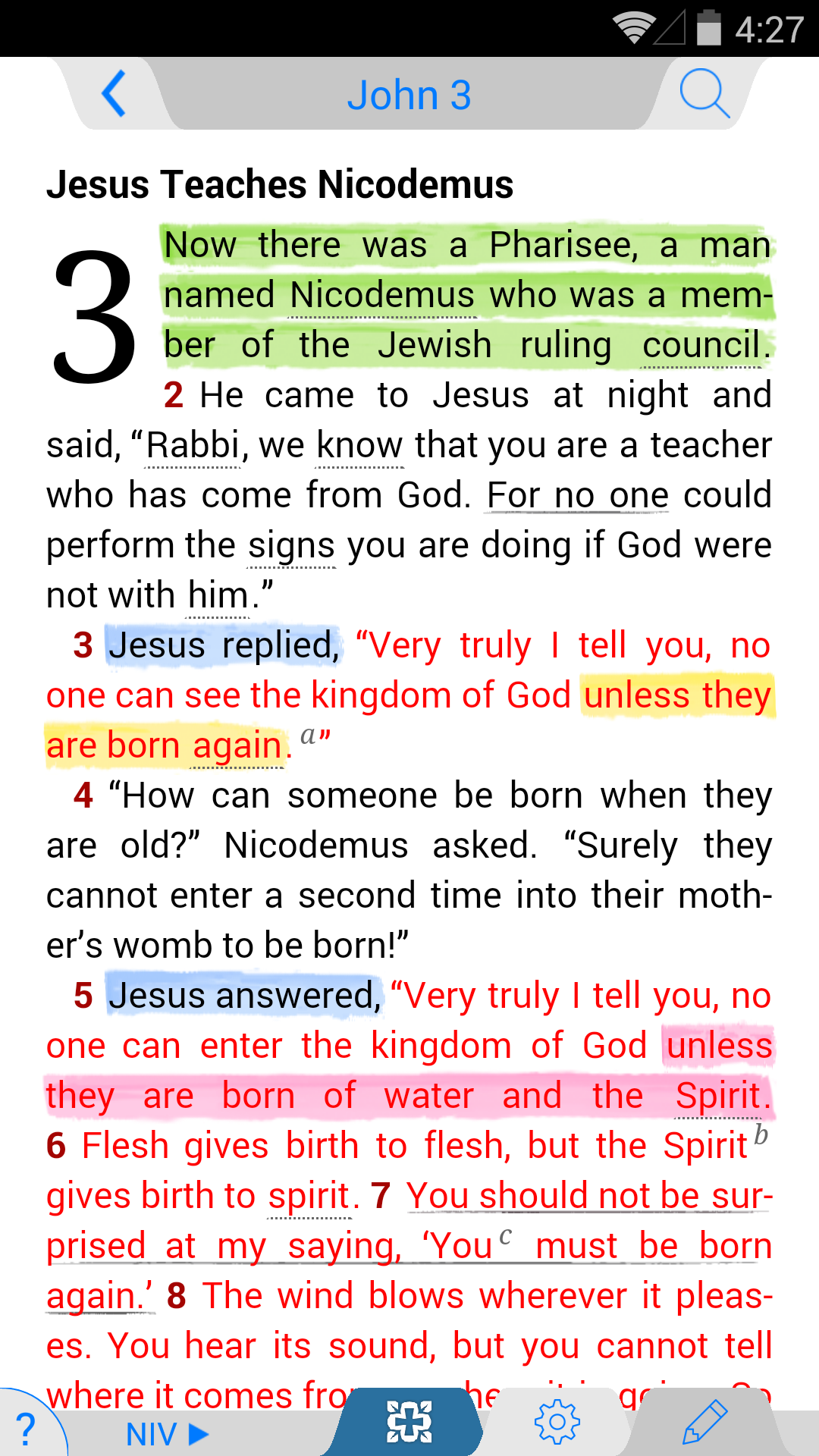 NIV Study Bible screenshot #1