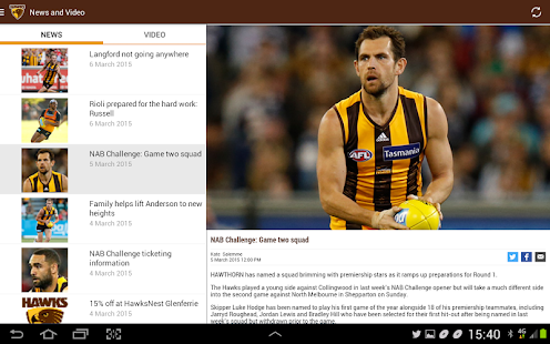 Hawthorn Official App - screenshot thumbnail