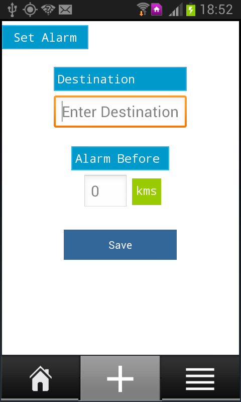 Travel Alarm- screenshot