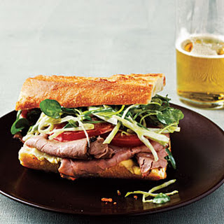 Roast Beef Sandwiches with Watercress Slaw.