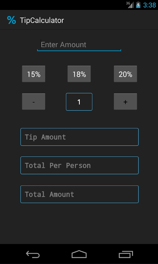 Simple Tip Calculator - screenshot