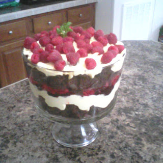 Raspberry Chocolate Cream Trifle.