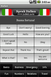 Speak Italian- screenshot thumbnail