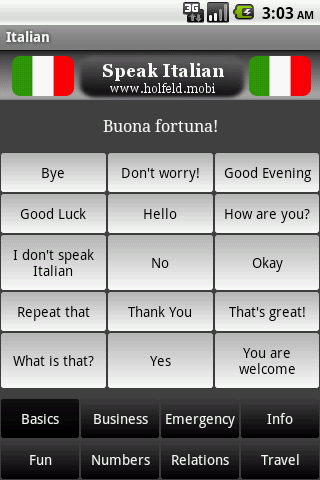 Speak Italian - screenshot
