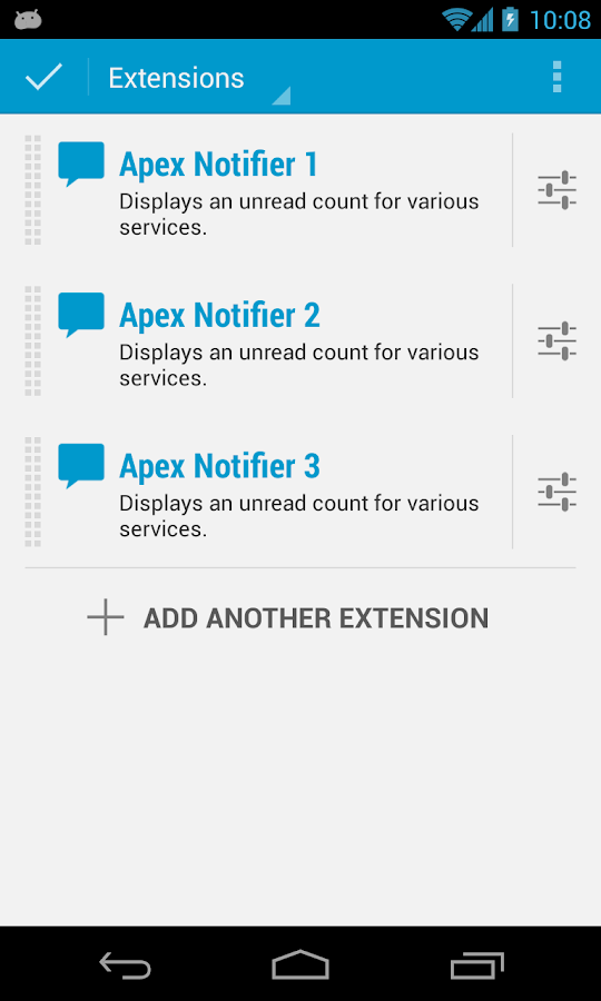 Apex Notifier - screenshot