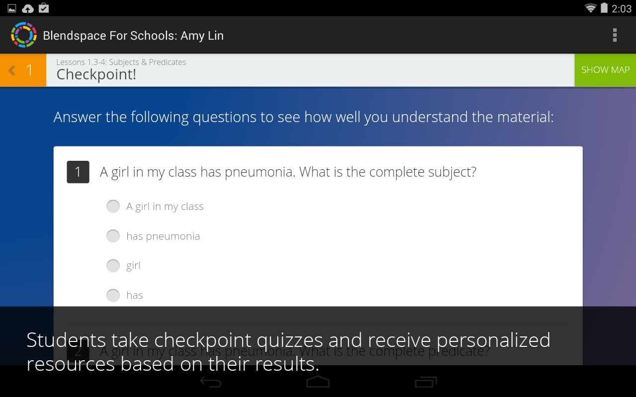Blendspace for Schools:Student - screenshot