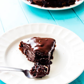 Ultimate Triple Chocolate Cake with Chocolate Ganache.