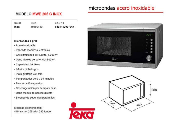 Te describimos el Teka Mwe205G de 20L con panel de mandos electrónico y grill simultáneo de cuarzo, sin duda un microondas más que recomendable