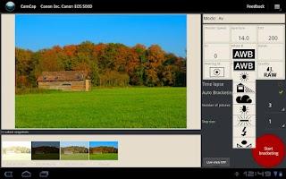 Screenshot of CamCap Demo