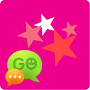 Go sms Pink girly star Theme APK icon