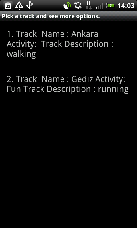 Runner App - screenshot