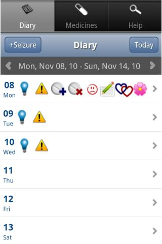 My Epilepsy Diary - screenshot