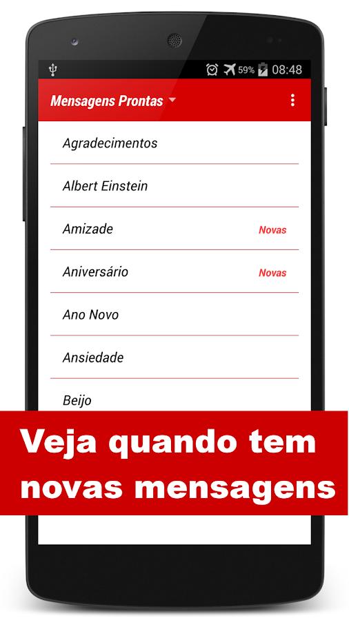 Mensagens Prontas p/ celular- screenshot