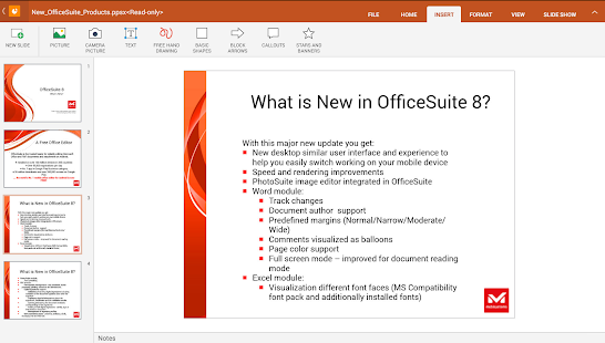 OfficeSuite 8 Pro (Trial) - screenshot thumbnail