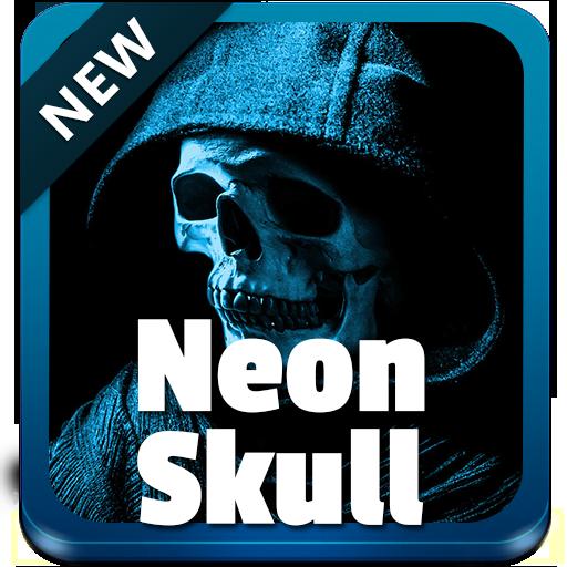 Neon Skull Keyboard