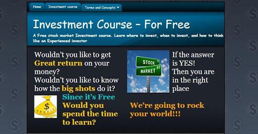 平板电脑的投资课程