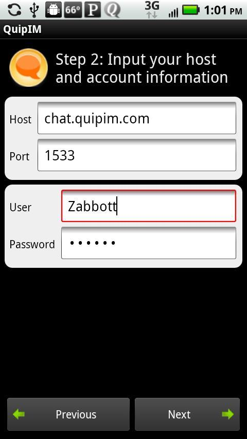 QuipIM for Sametime Standard - screenshot